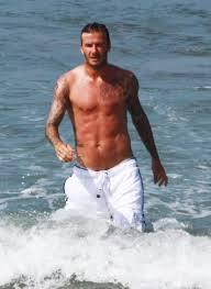 ManCandyMonday – David Beckham on the Beach