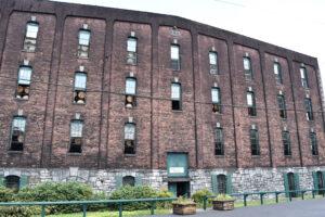 One of the many brick warehouses at Buffalo Trace Distillery
